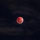 Lune orangée