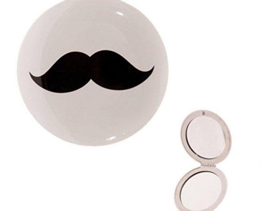 miroir de poche original moustache