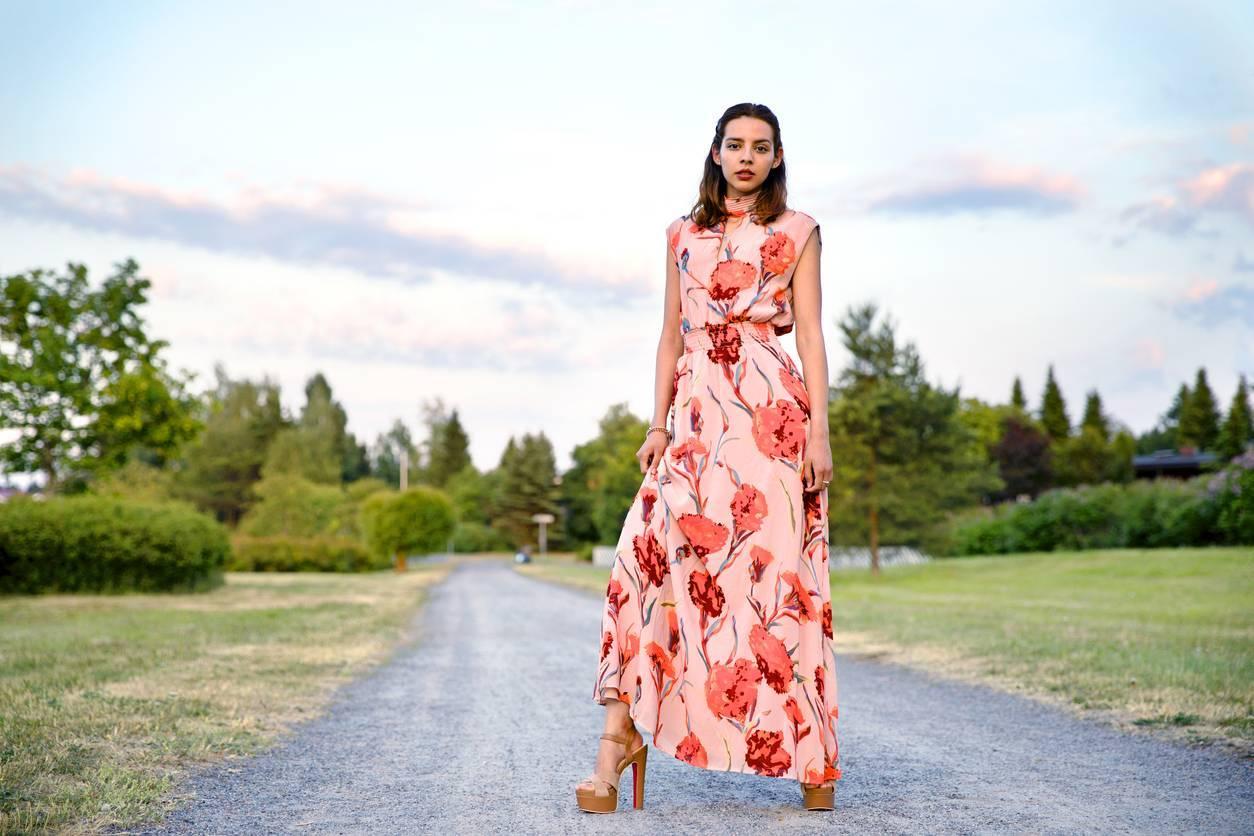 robe style asiatique ethnique