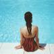 teint hâlé piscine